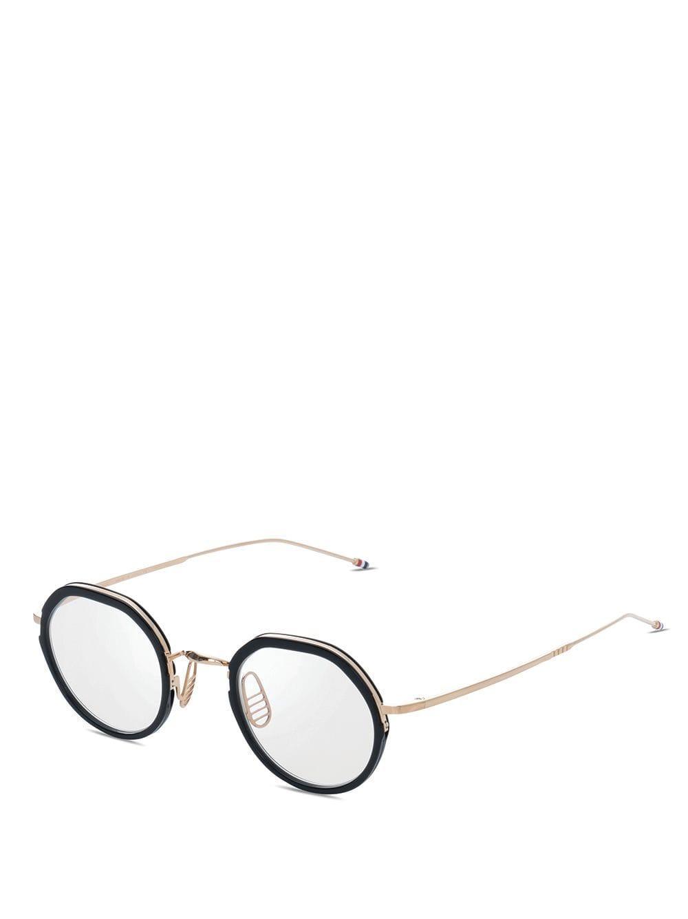29b6b62625 Thom Browne Oval Frame Glasses in Black for Men - Lyst