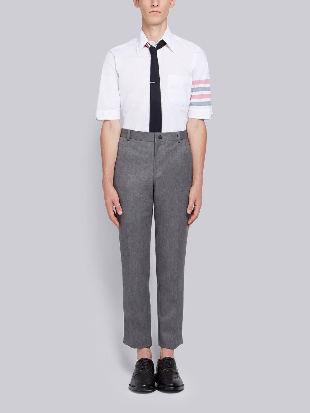 c2b29cfe1bb Thom Browne - White Woven 4-bar Armband Poplin Shirt for Men - Lyst. View  fullscreen