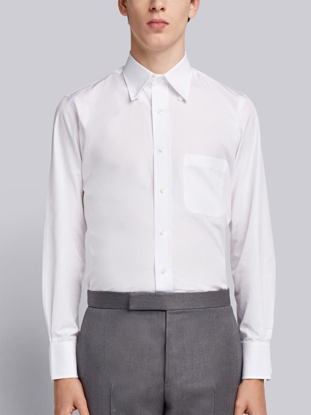 a5142dcf9da Lyst - Thom Browne Solid Poplin Dress Shirt in White for Men