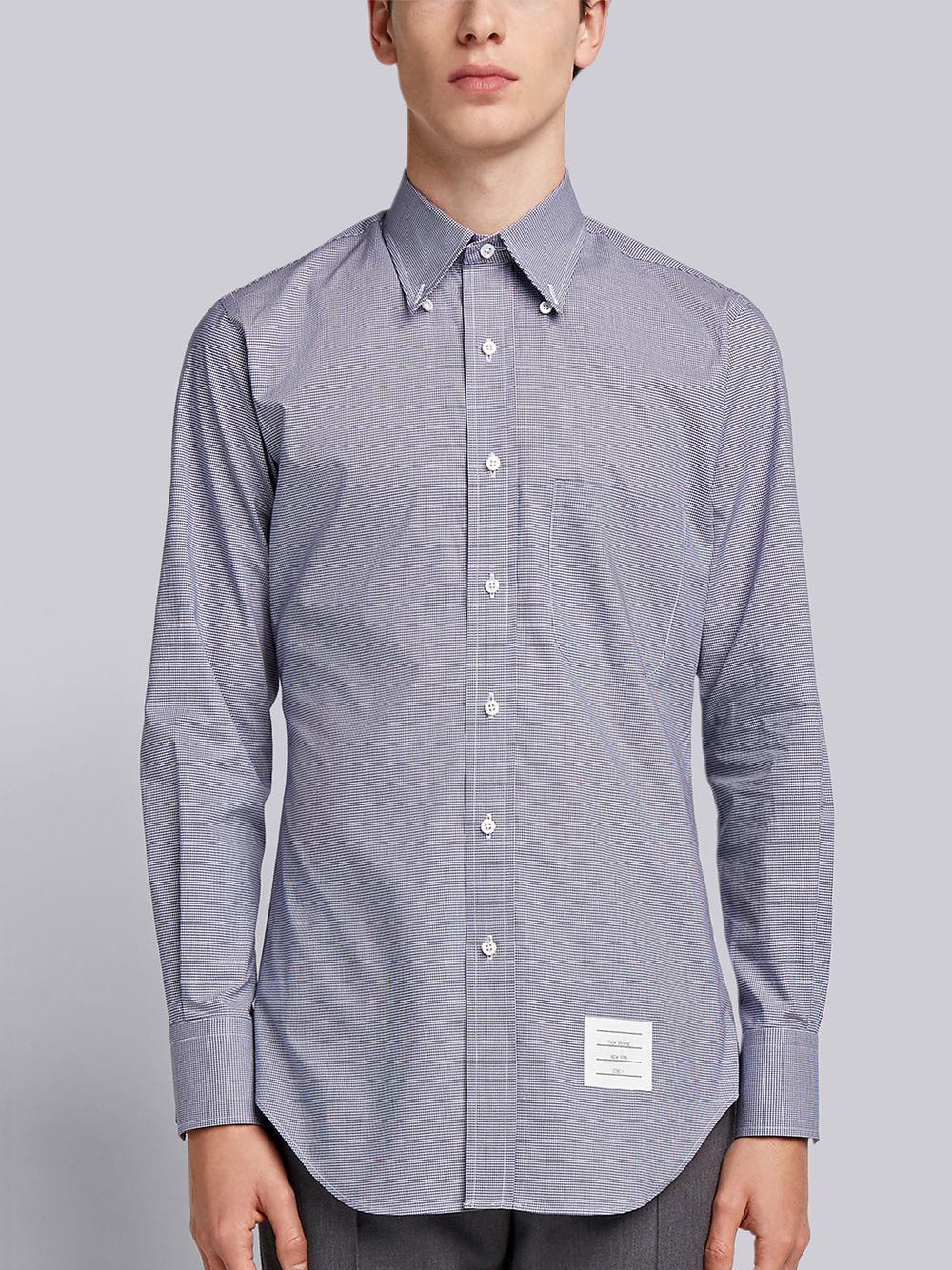 a4898da3283 Thom Browne - Blue Small Gingham Check Poplin Shirt for Men - Lyst. View  fullscreen