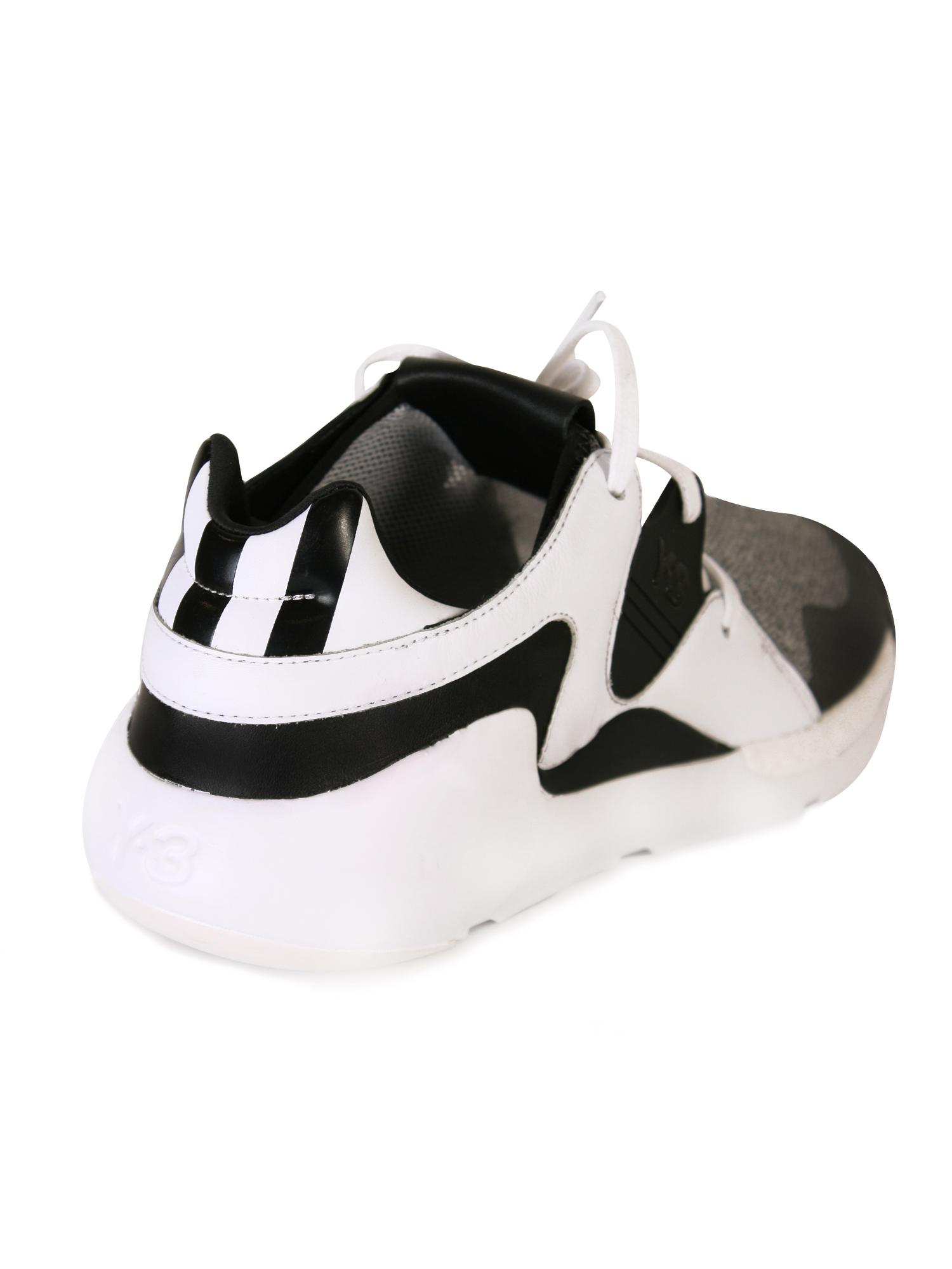 e41cd1d96 Y-3 White Qr Run Trainers in Black for Men - Lyst