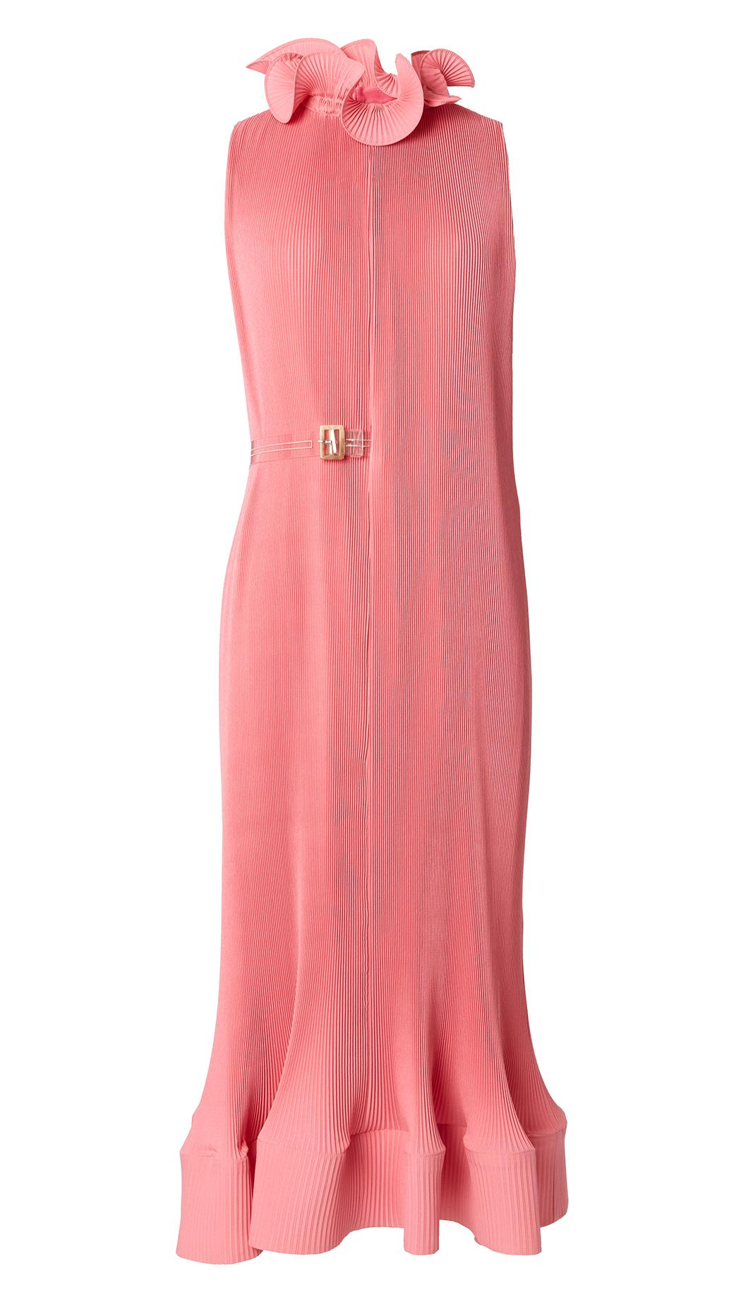 Lyst Tibi Pleated Sleeveless Dress With Removable Belt
