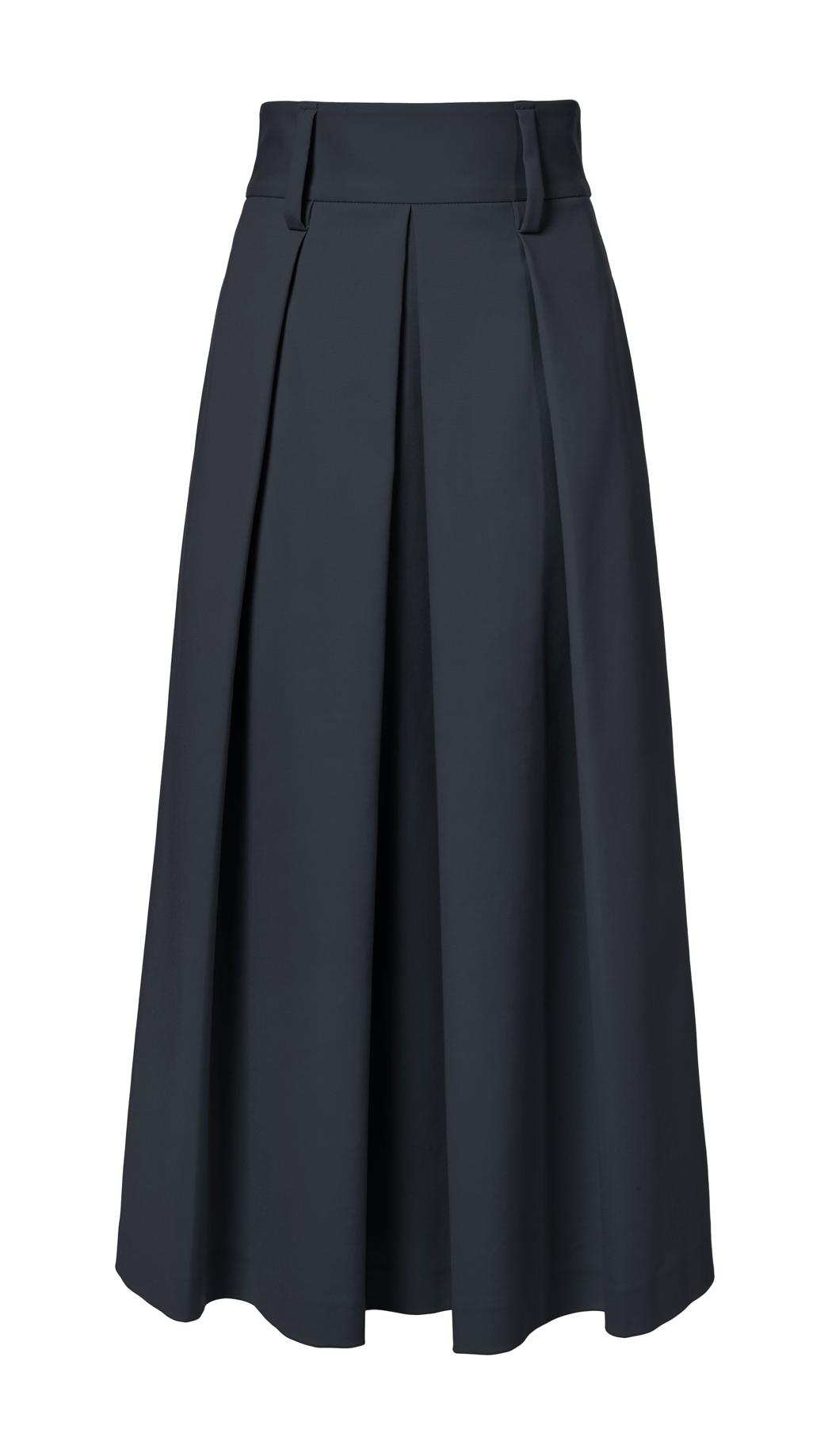 tibi agathe high waisted skirt in black lyst