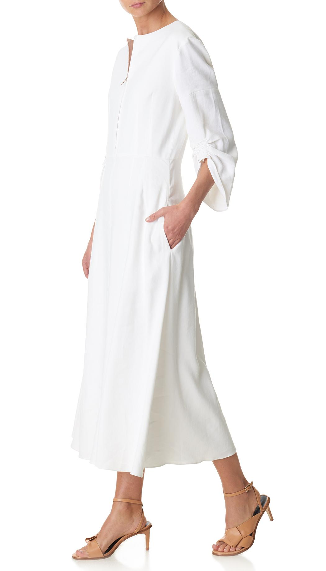 9009b1de0f Gallery. Women s White Linen Dresses ...