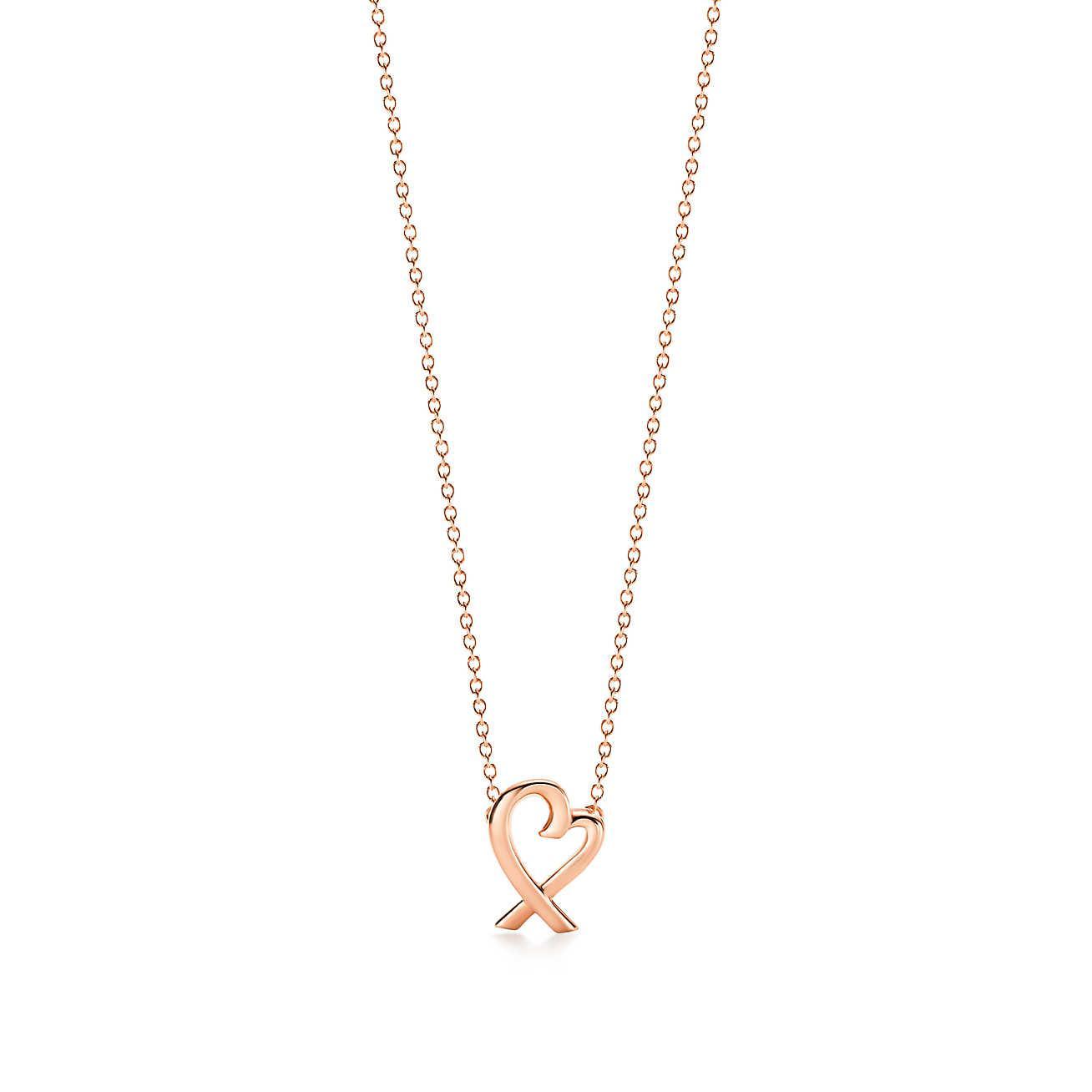 Lyst tiffany co paloma picasso loving heart pendant in 18k tiffany co womens pink paloma picasso loving heart pendant aloadofball Image collections
