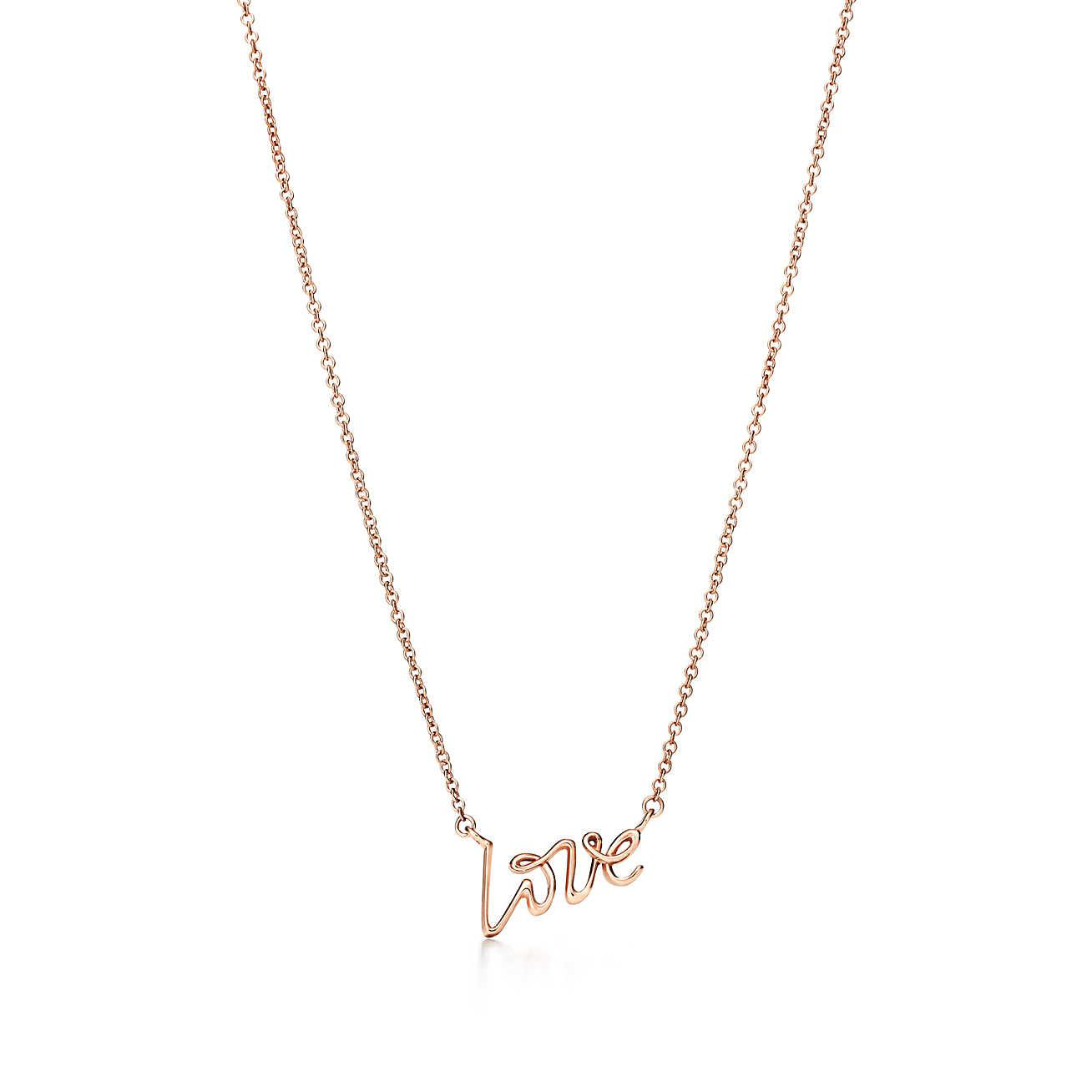 8048d985695b Tiffany   Co. Paloma s Graffiti Love Pendant In 18k Rose Gold
