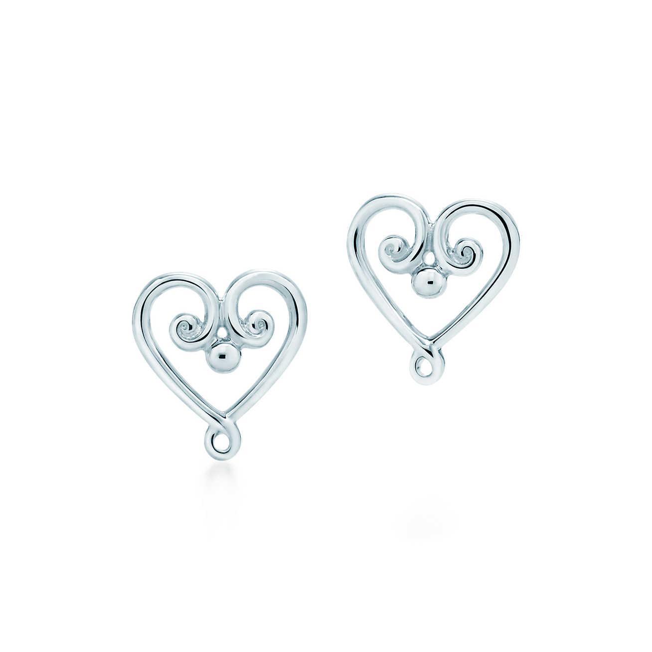 3938a8984 Tiffany & Co. Goldoni Heart Earrings in Metallic - Lyst