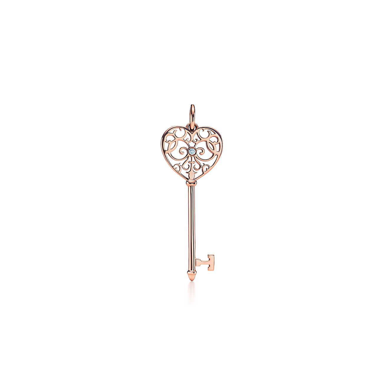 d2032d5dd Tiffany & Co. Tiffany Keys Enchant Key Pendant In 18k Rose Gold With ...