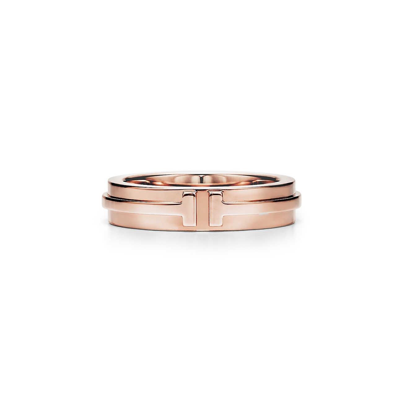Or Jaune 18 Kt Tiffany T Deux Anneau Étroit Diamant - Tiffany Métallique & Co. 1mZgtEL43