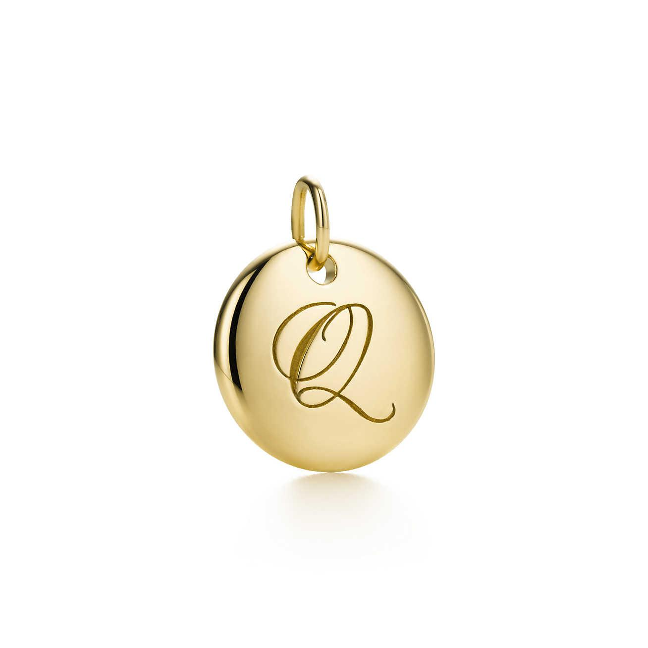 Alphabet heart tag letter Q charm in sterling silver Letters A-Z available - Size Q Tiffany & Co. 8DIubGn