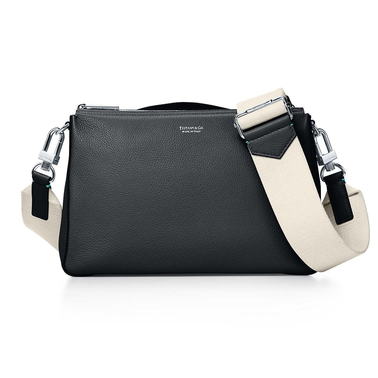 e3d11a0291 Tiffany   Co. Crossbody Bag In Black Grain Calfskin Leather in Black ...