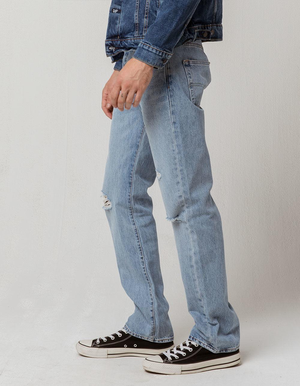 598dbb8ddbd89 Lyst - Levi s 501 Hector War Mens Ripped Jeans in Blue for Men