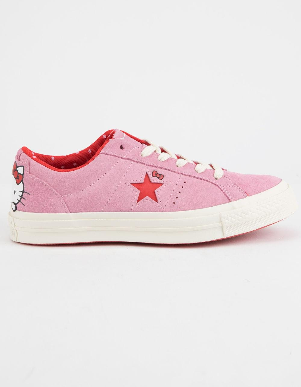 cad29606ecc Lyst - Converse X Hello Kitty One Star Prism Pink   Firey Red Womens ...