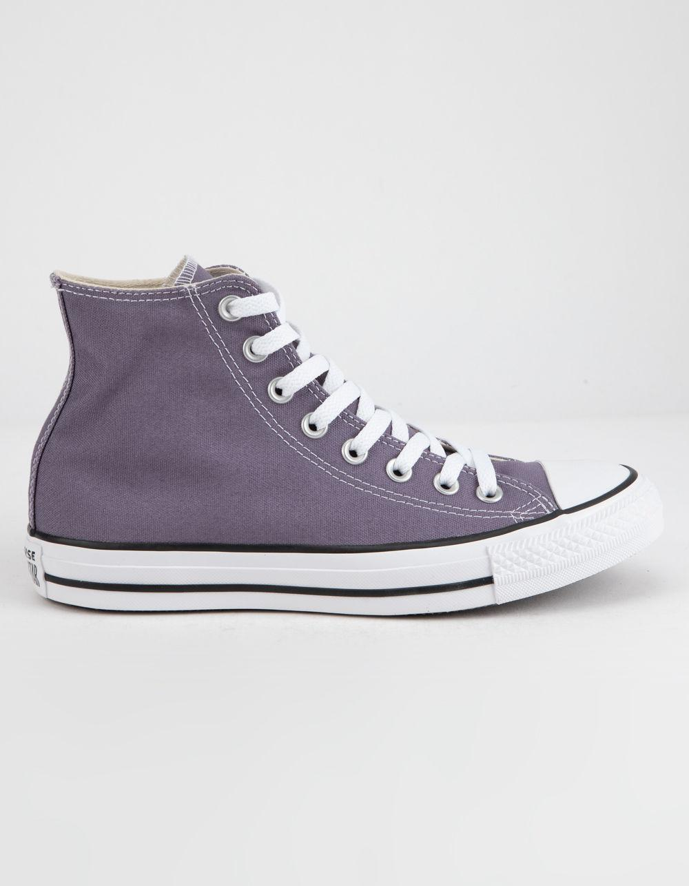 cd610dc4d5f Lyst - Converse Chuck Taylor All Star Moody Purple High Top Womens Shoes in  Purple - Save 47%