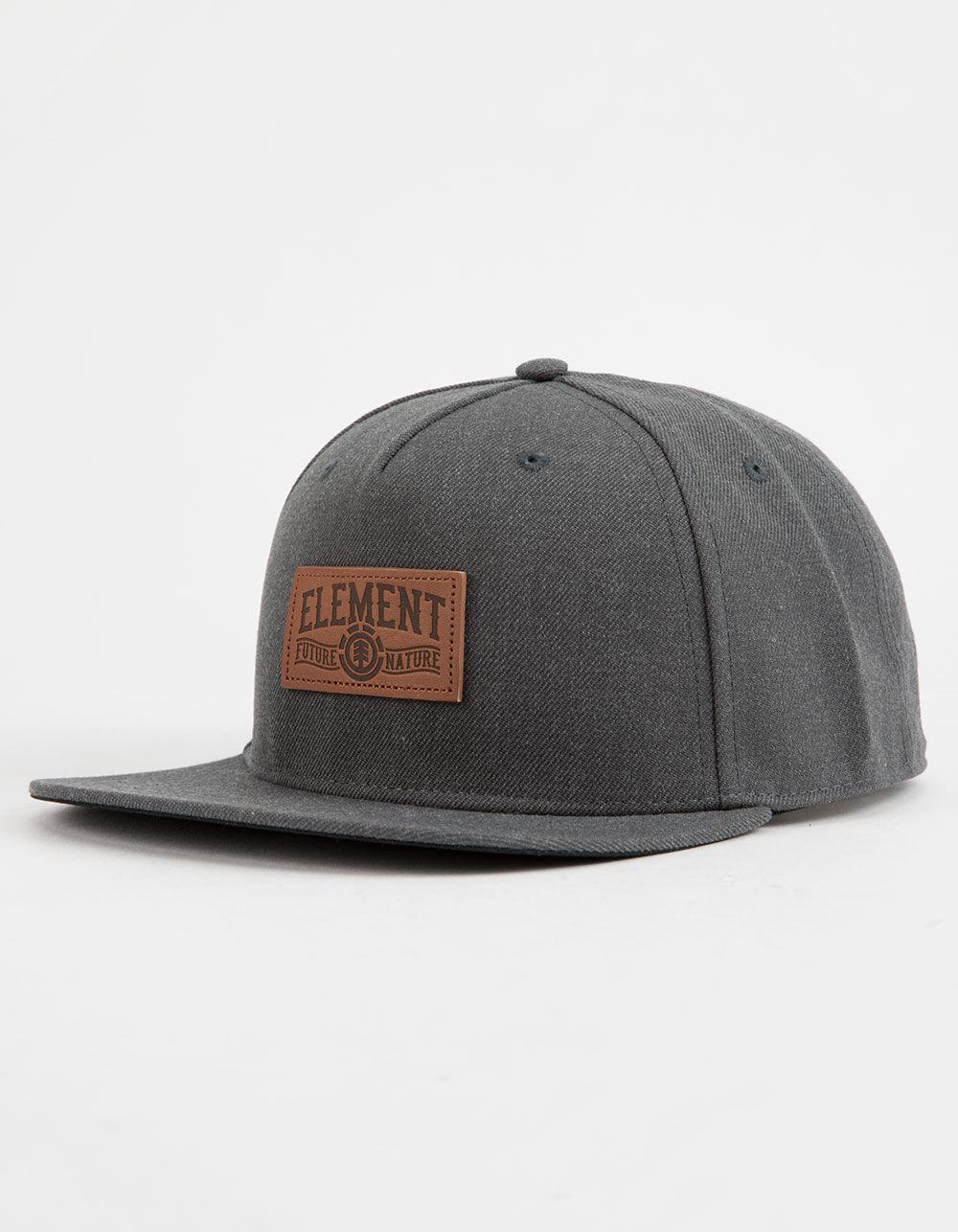 b9dd71898 Gray Leather Banner Mens Snapback Hat