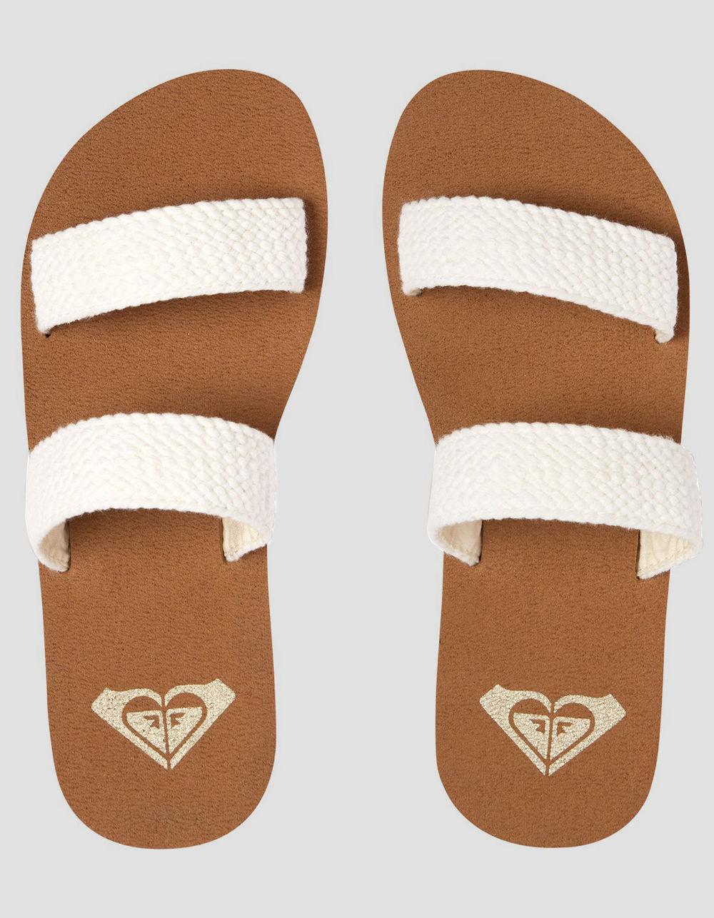 964011a69ebc25 Lyst roxy sanibel white womens sandals in white save jpg 1000x1286 Roxy  womens slippers