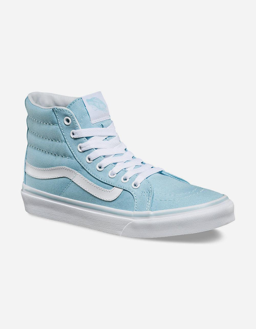 c70c3b2ece Lyst - Vans Sk8-hi Slim Crystal Blue   True White Womens Shoes in Blue