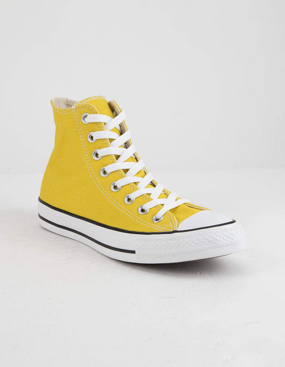 ad0ec62455b3 Lyst - Converse Chuck Taylor All Star Bold Citron High Top Womens Shoes