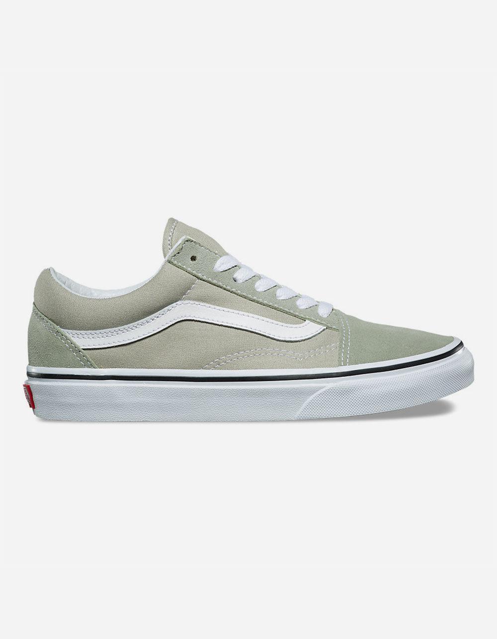 4a4c244c7e Lyst - Vans Old Skool Desert Sage   True White Womens Shoes in White ...