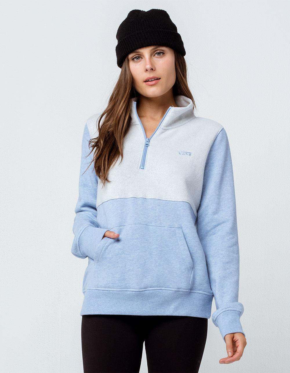 cd77111b6a4 Lyst - Vans Glacial Half Zip Womens Sweatshirt in Blue