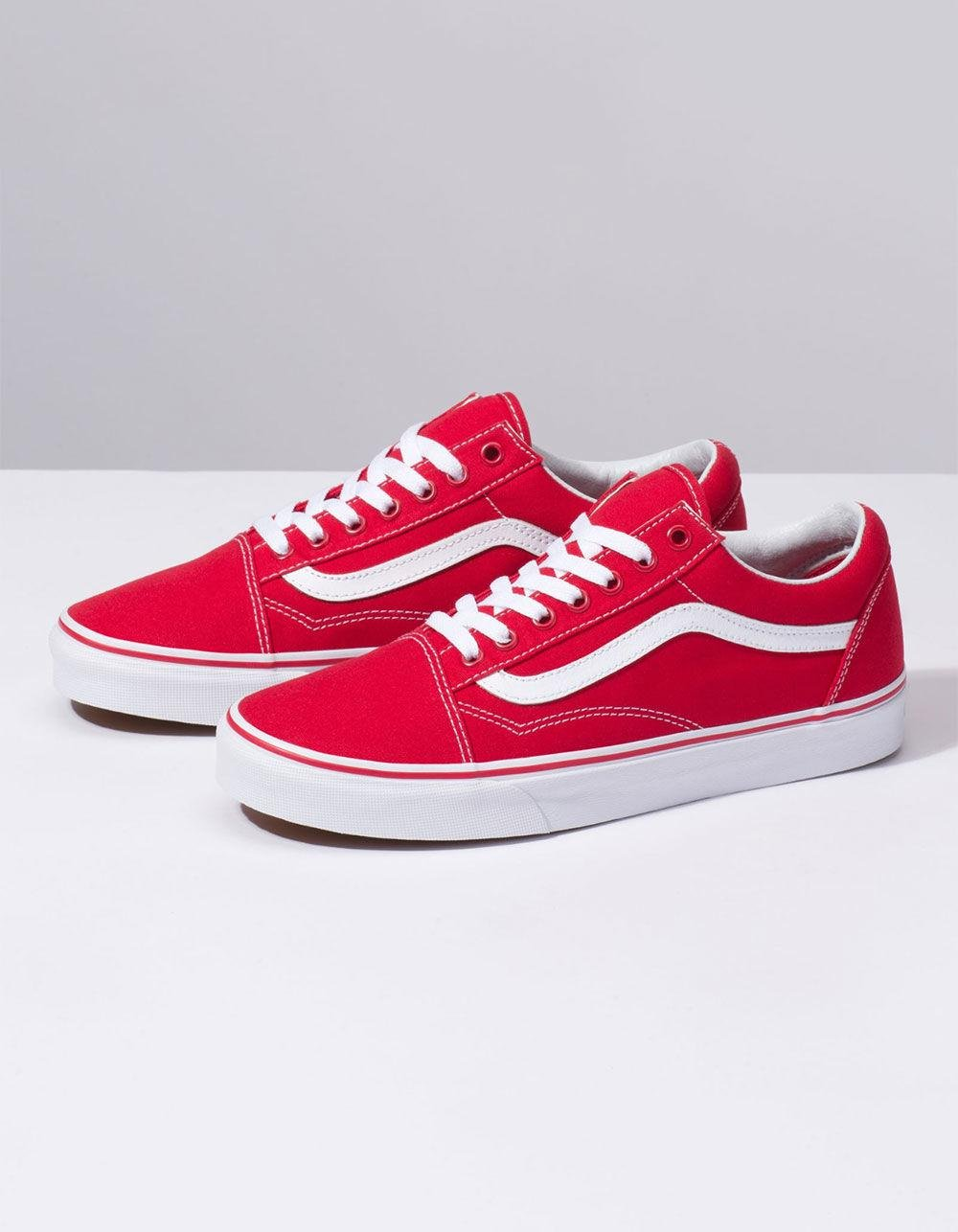 809071a7e498 Lyst - Vans Canvas Old Skool Formula One Shoes in Red