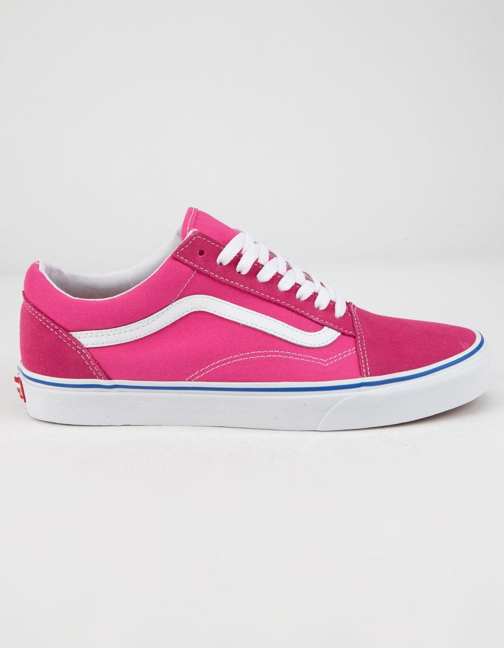 06bd66e66199 Lyst - Vans Suede Canvas Old Skool Carmine Rose Shoes in Pink