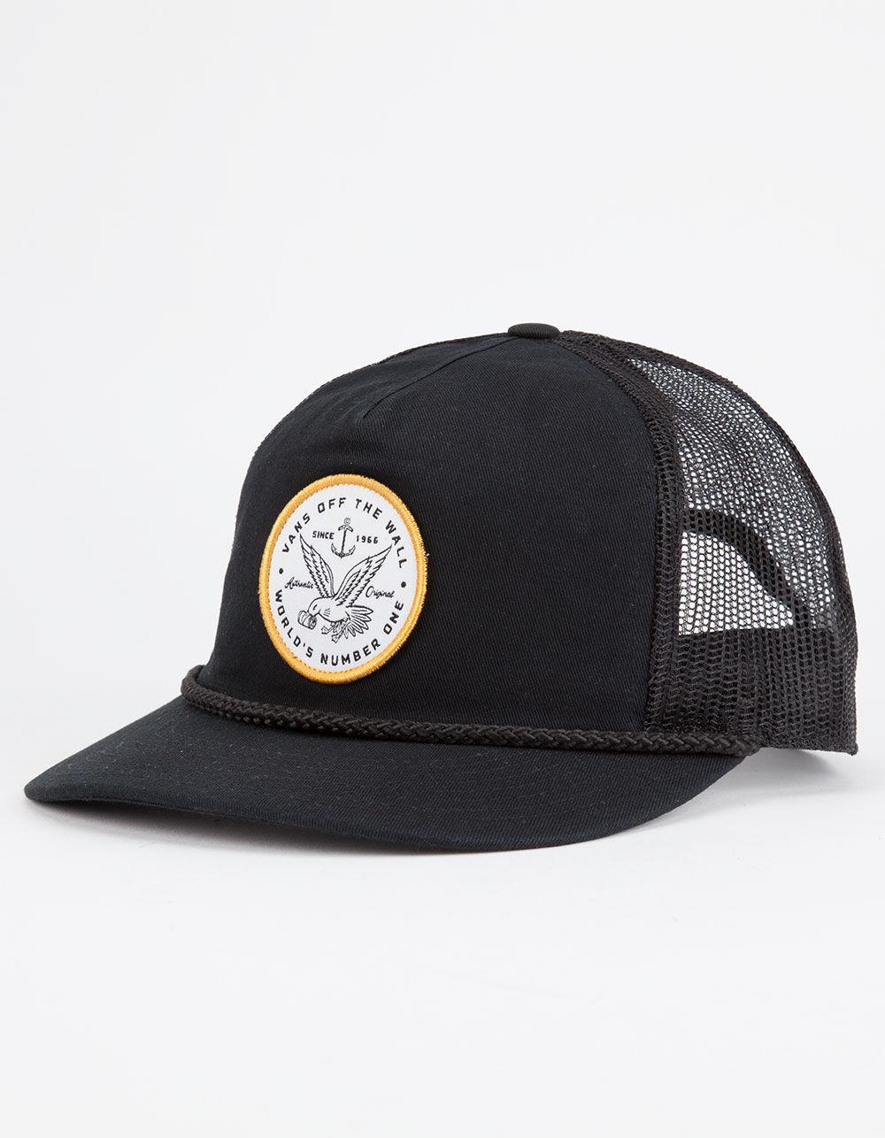 Lyst - Vans Fremont Mens Trucker Hat in Black for Men bb1ab7ddd082