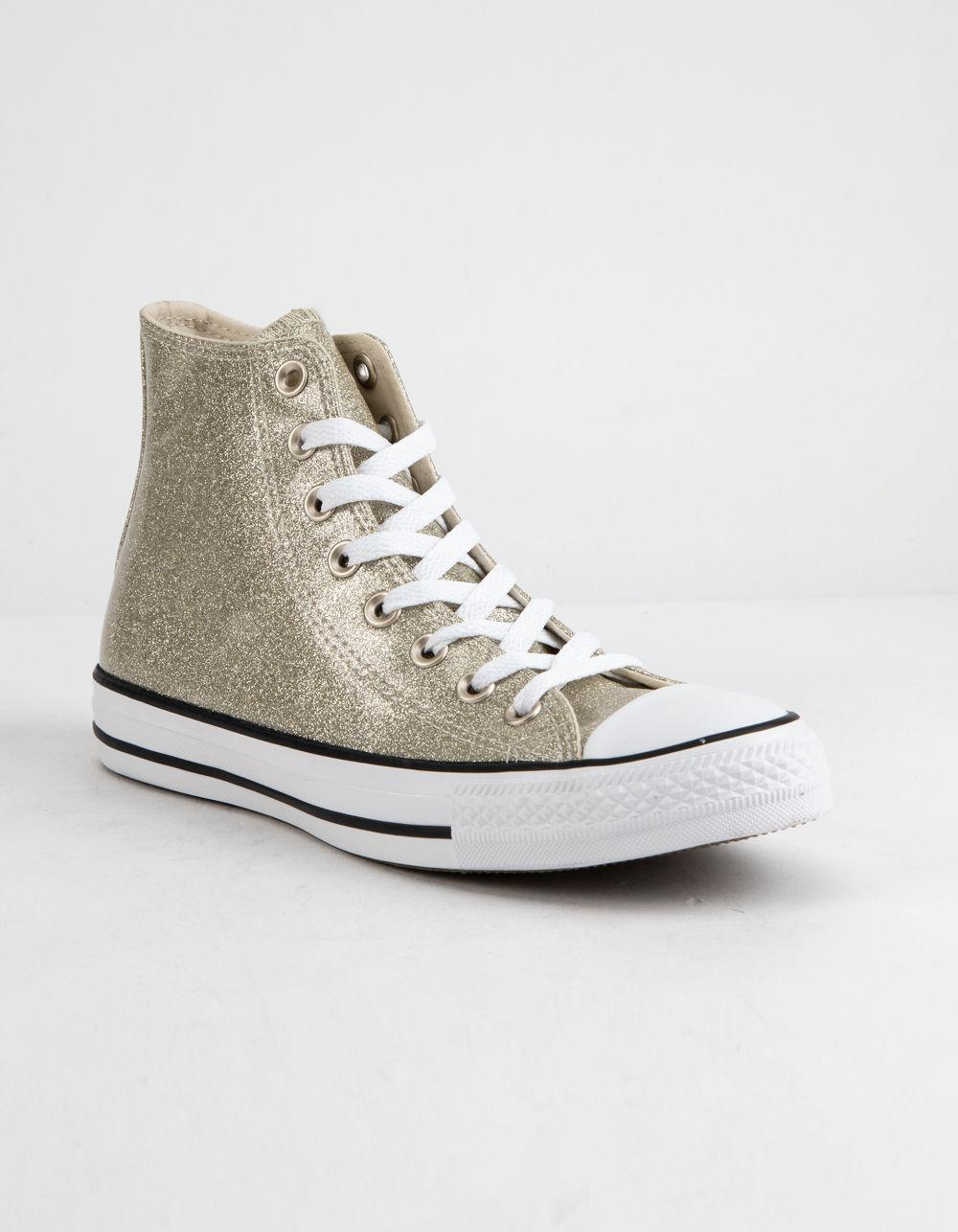 27116aa38eb0 Lyst - Converse Chuck Taylor All Star Wonderworld High Top Womens Shoes in  Metallic