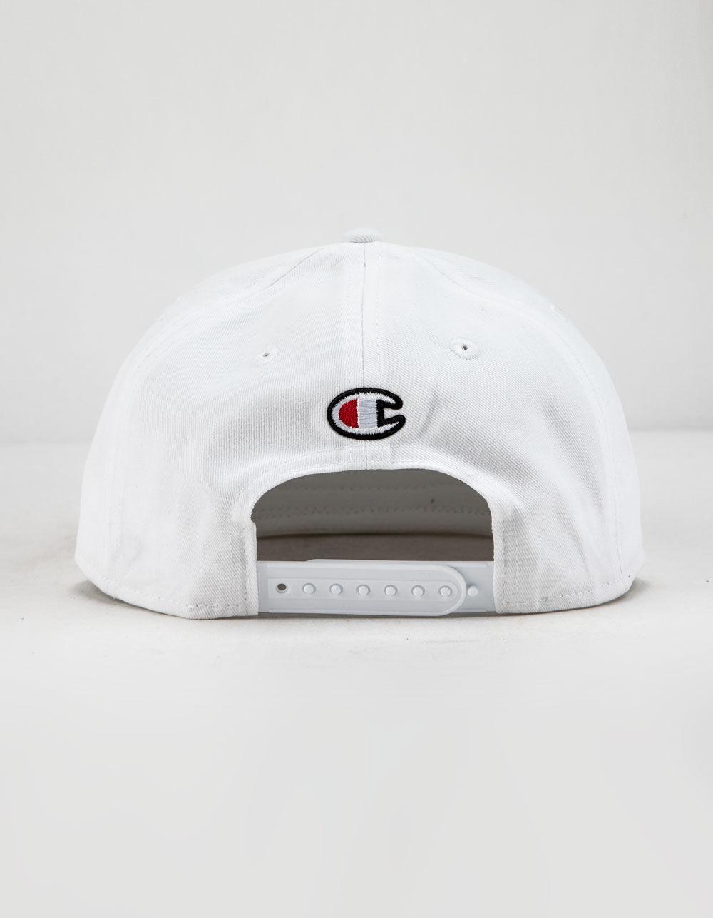 7b0813c8a8258 Champion Bb Script White Snapback Hat in White for Men - Lyst