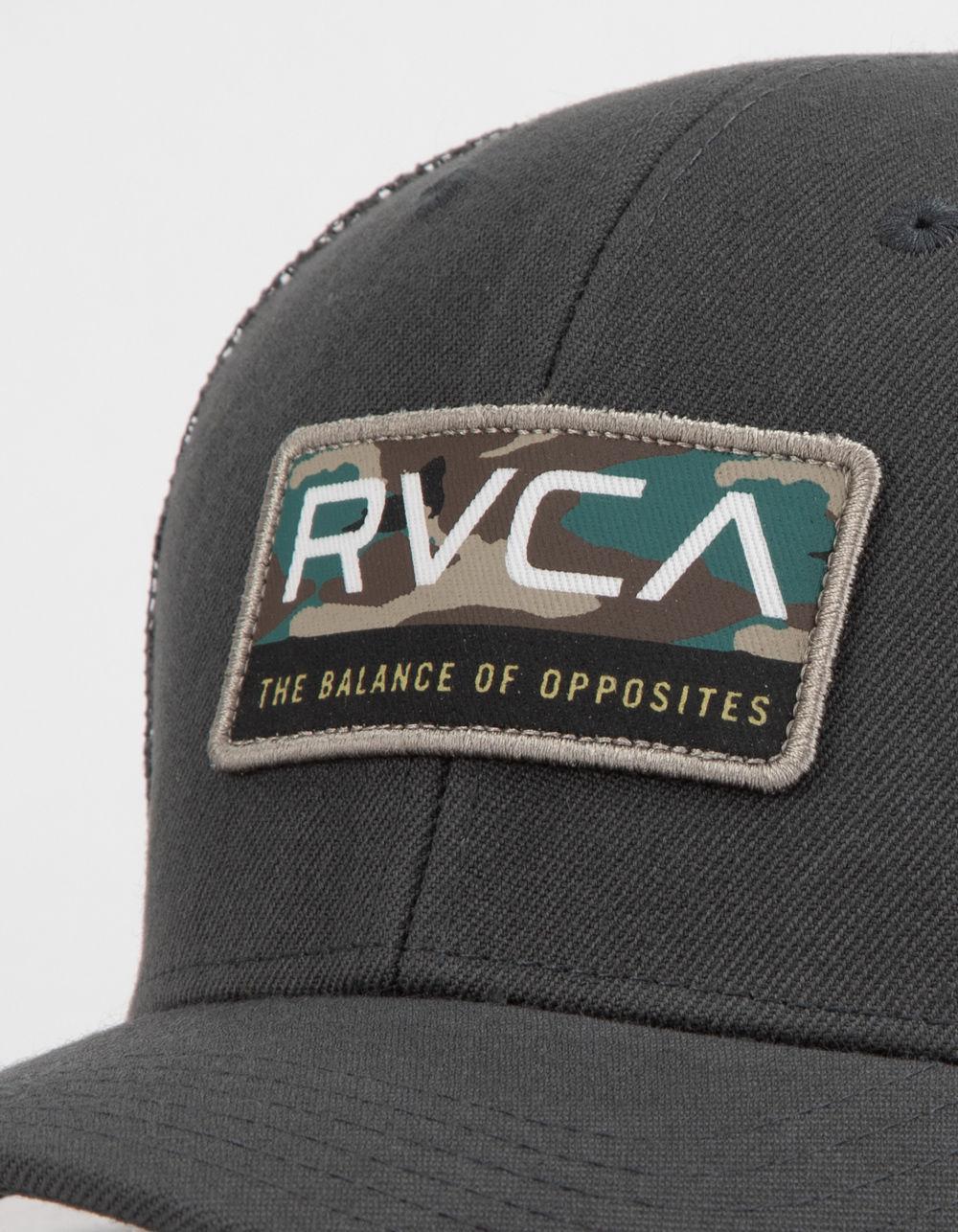 reputable site 0e428 54bbd ... norway lyst rvca reno gray mens trucker hat in gray for men 9d043 e08b4