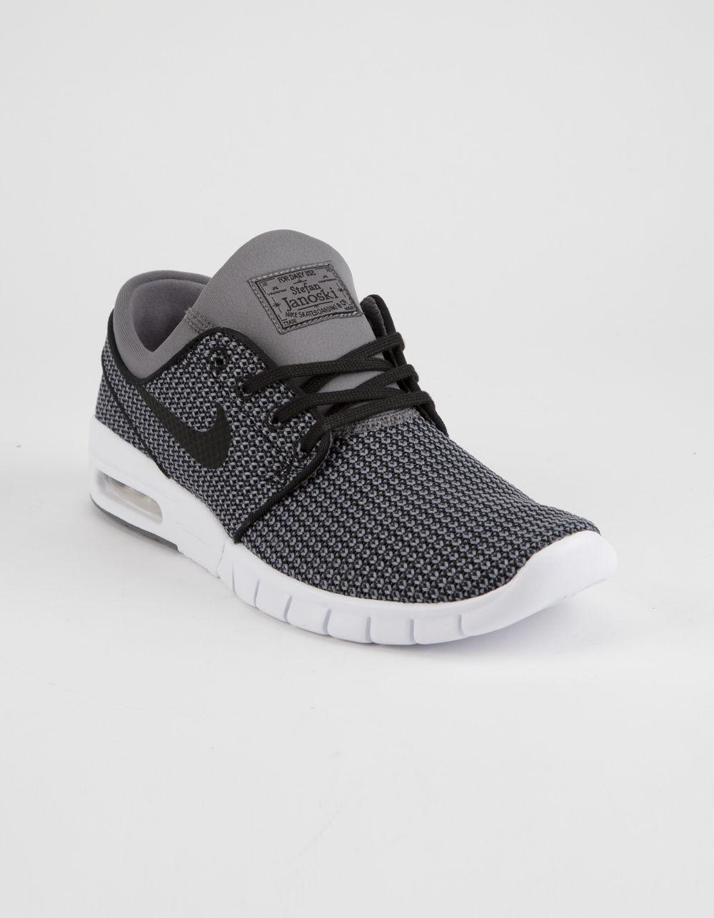 4ee270dc6f3f3 Lyst - Nike Stefan Janoski Max Gunsmoke White   Black Shoes in Gray for Men