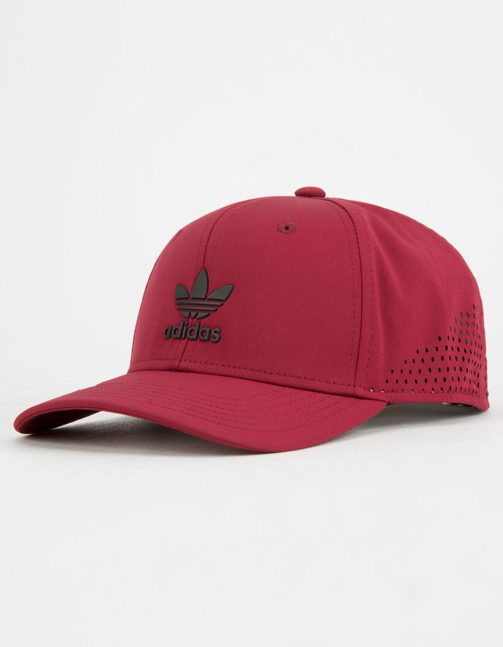 Lyst - adidas Originals Tech Mesh Burgundy Mens Snapback Hat in Red ... ab1a825677ed