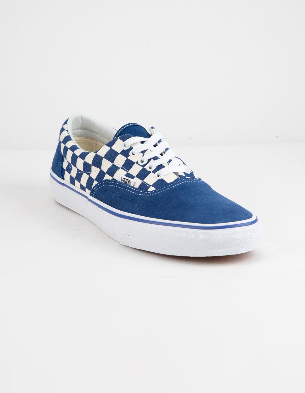 cc4a3915c4 Lyst - Vans Primary Check Era True Blue   White Shoes in Blue - Save 2%