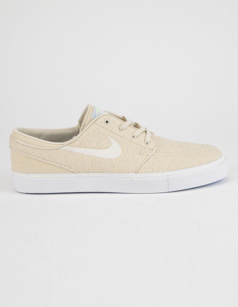 7b5f664452 Nike Zoom Stefan Janoski Canvas Fossil & Sail White Mens Shoes in ...