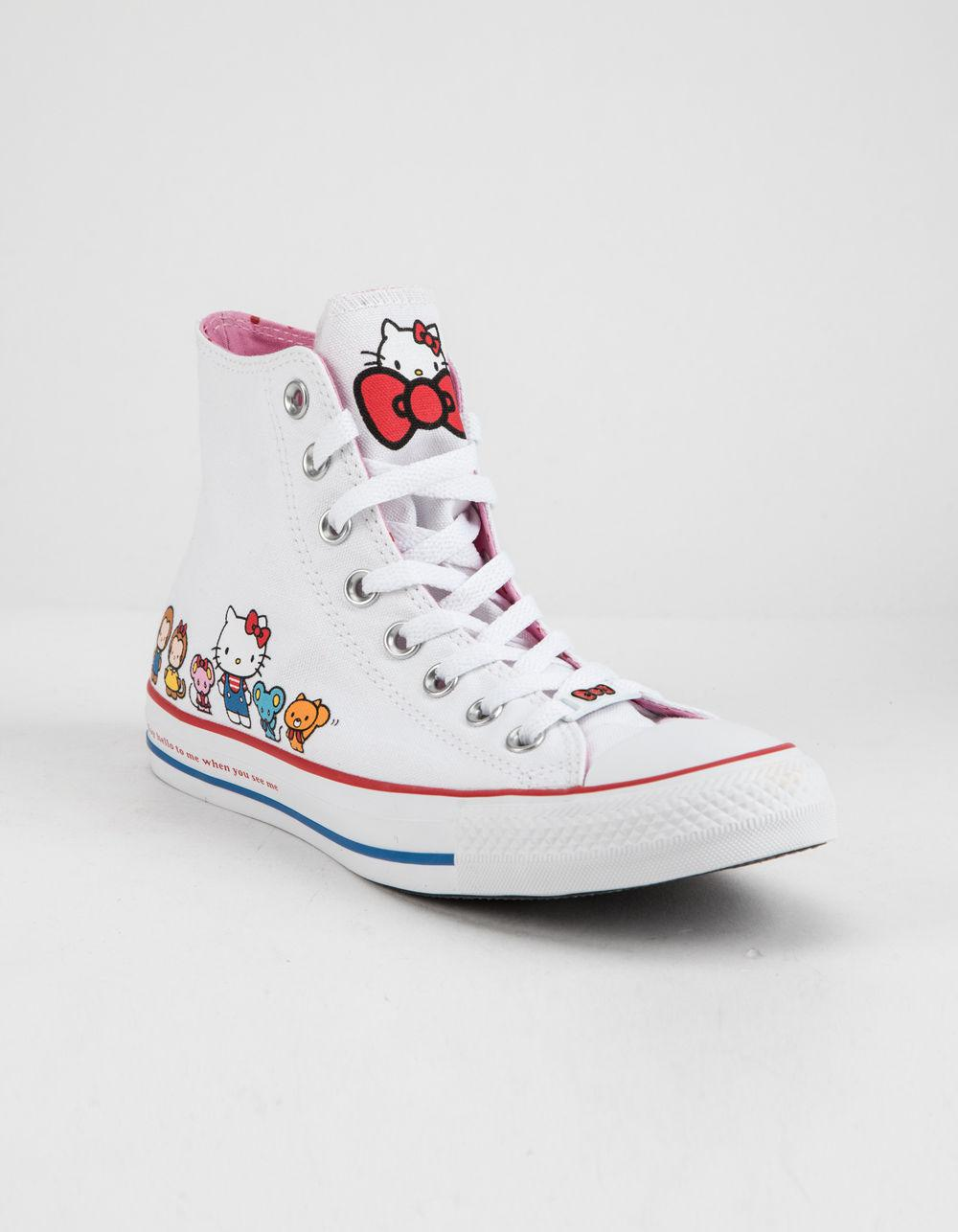 5f13593a928c Lyst - Converse X Hello Kitty Chuck Taylor All Star White   Prism ...