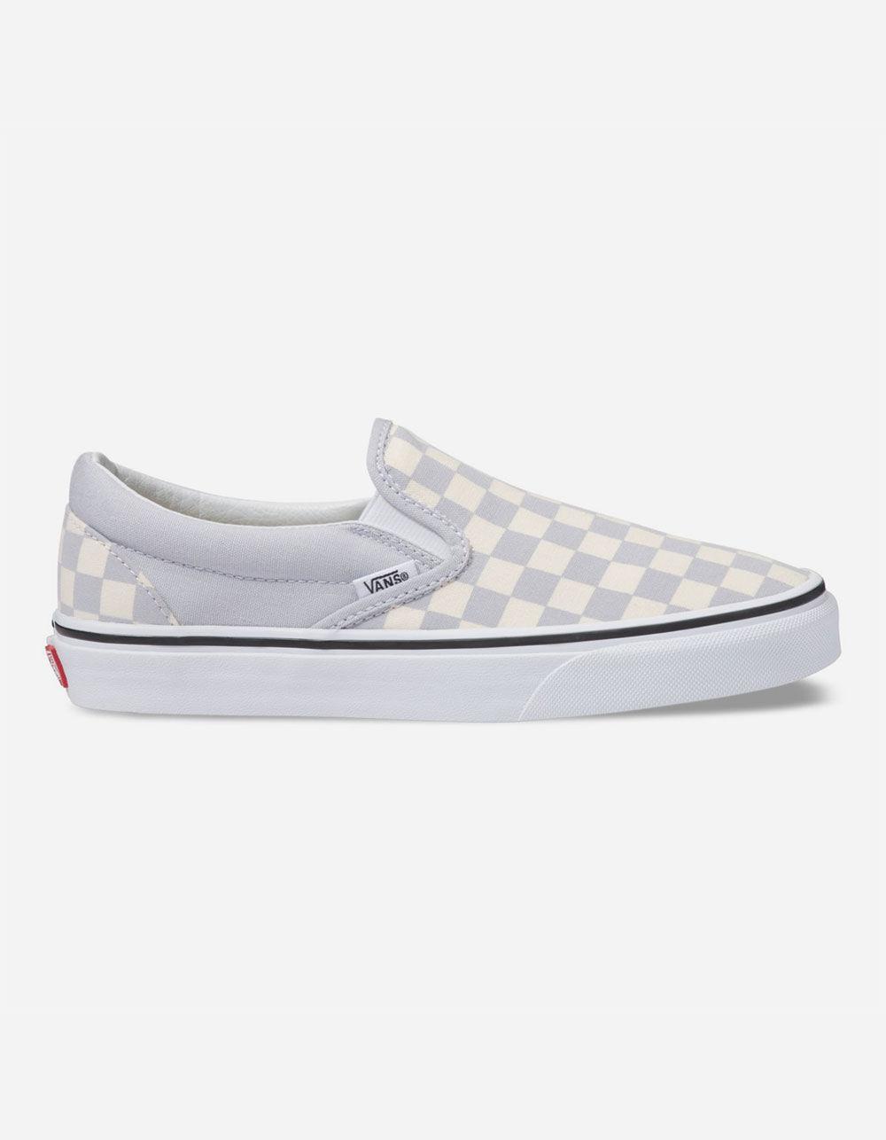 Lyst - Vans Checkerboard Gray Dawn   True White Womens Slip-on Shoes ... 37f754cb7d4