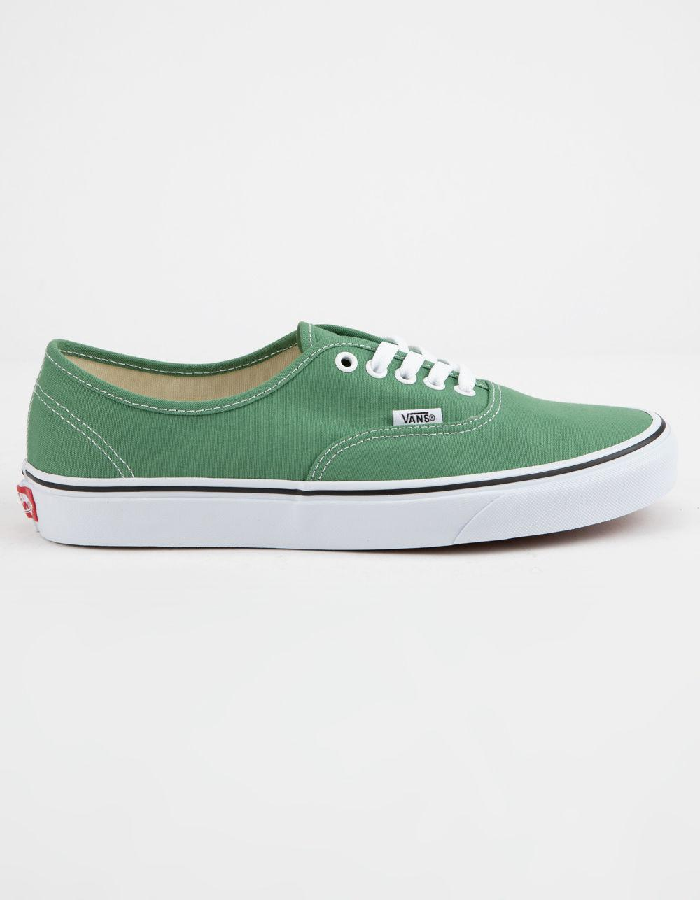 520bf376bce31b Lyst - Vans Authentic Deep Grass Green   True White Shoes in Green ...