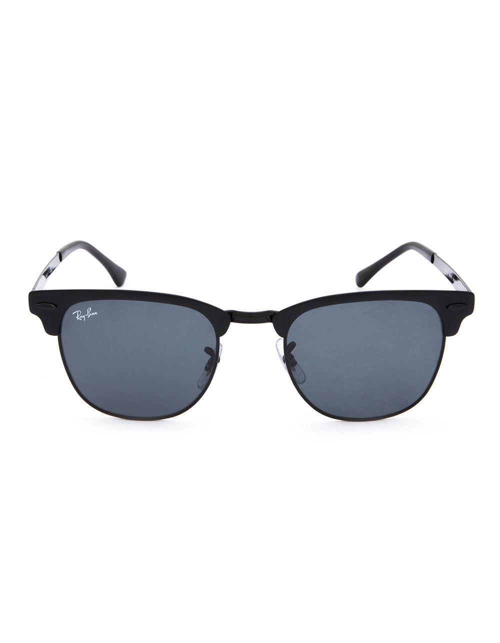 7befba6630 Lyst - Ray-Ban Clubmaster Metal Black   Blue Gradient Sunglasses in Black