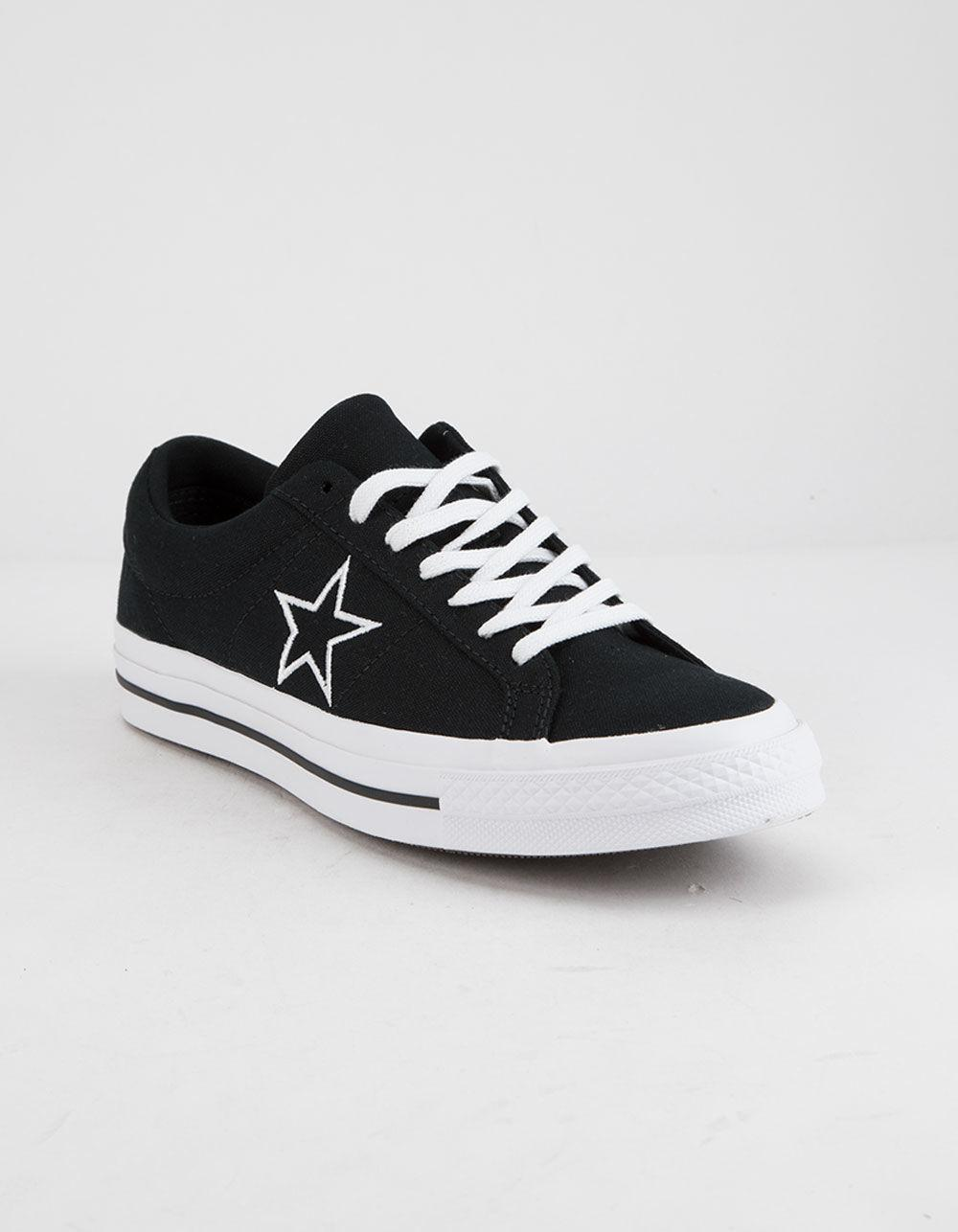 c4527f1717f5 Lyst - Converse One Star Ox Black   White Low Top Shoes in Black