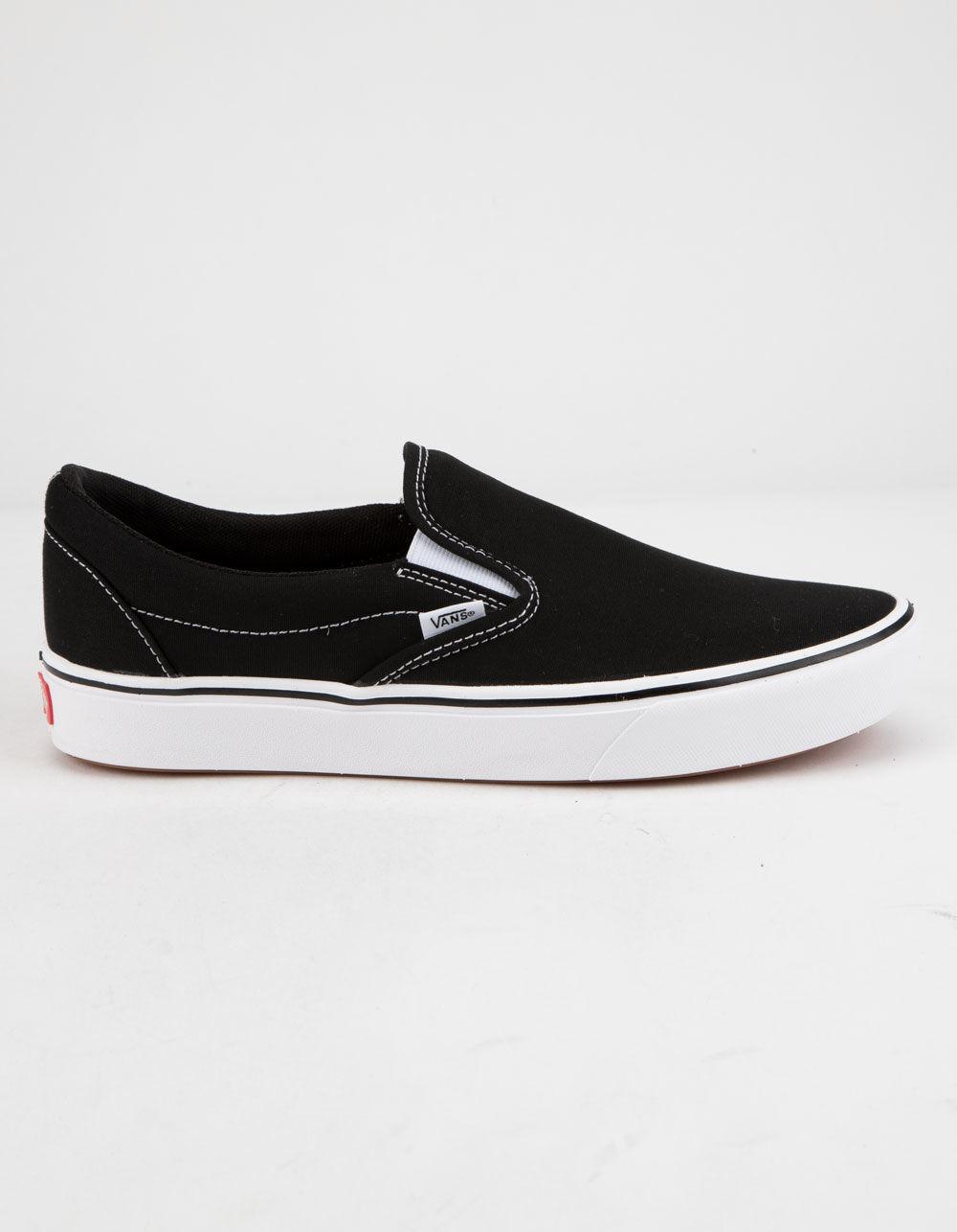 d7bb4c3ff41 Vans - Comfycush Classic Slip-on Black   True White Shoes - Lyst. View  fullscreen