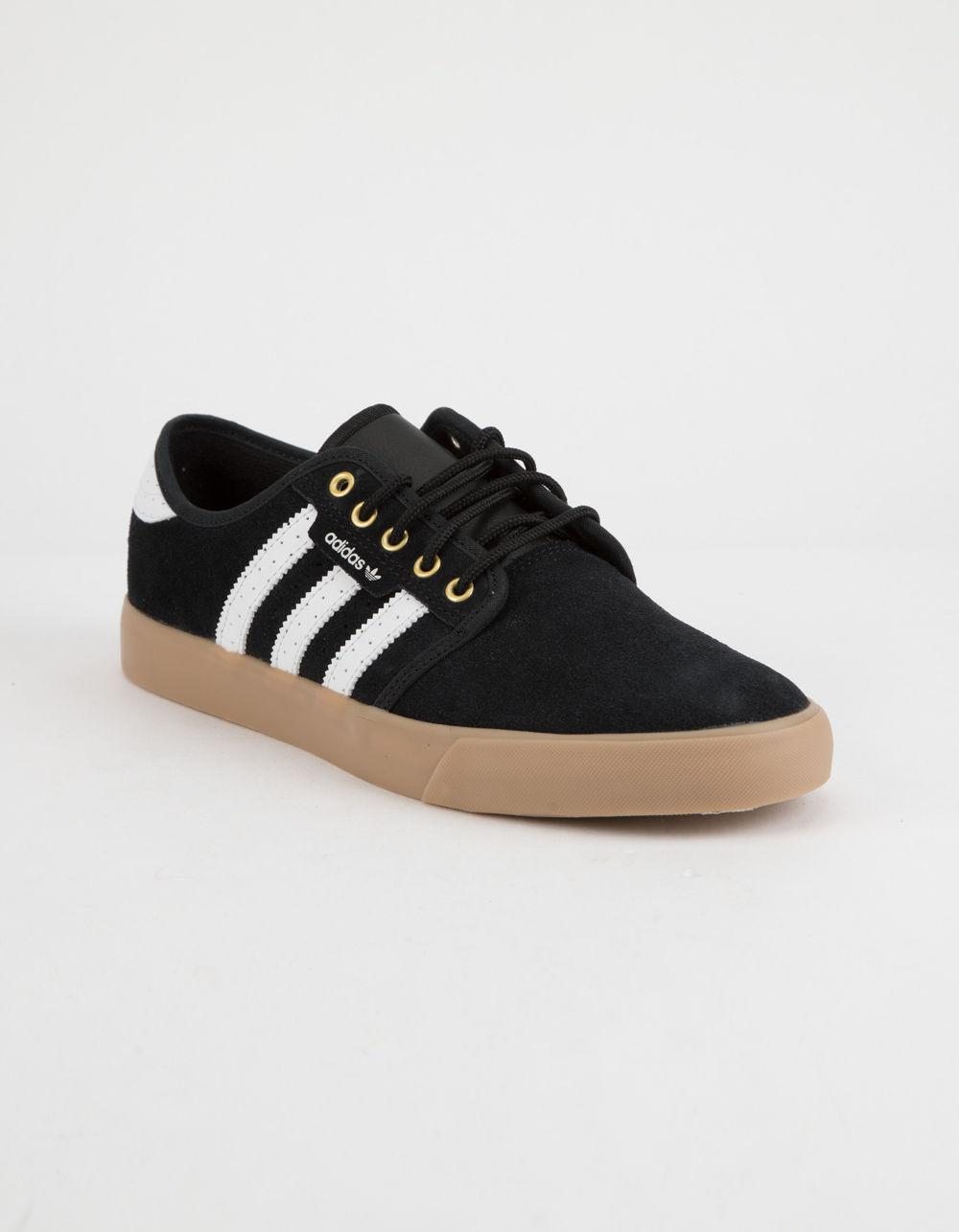 Lyst - adidas Seeley Black   Gum Shoes in Black for Men 88c523474