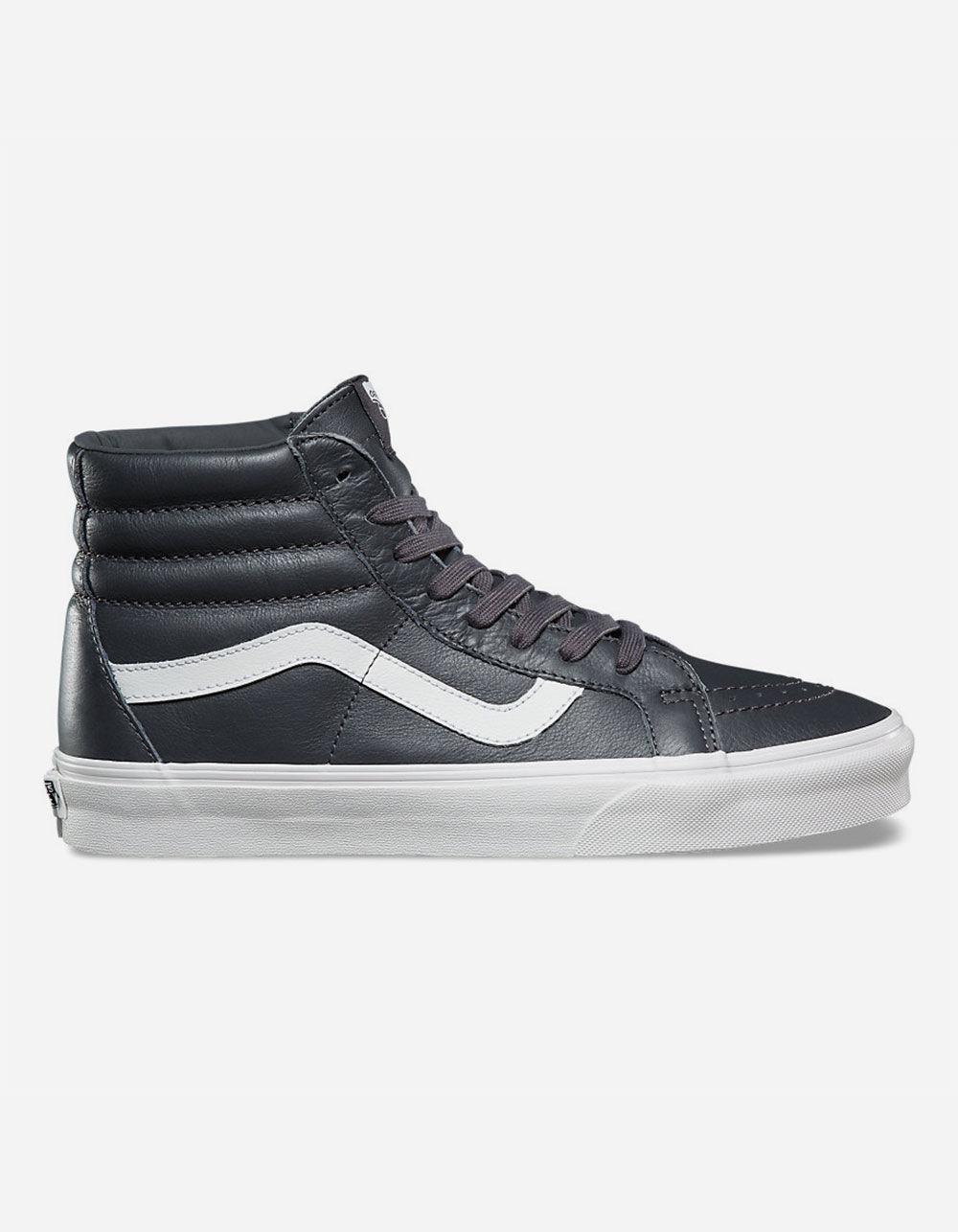 ed3fb9d5d2a Lyst - Vans Sk8-hi Reissue Leather Asphalt   Blanc De Blanc Shoes in ...