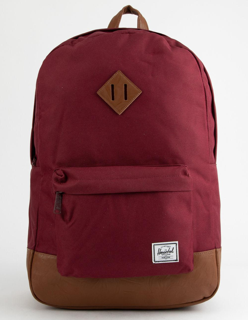 b7be490ee4b Lyst - Herschel Supply Co. Heritage Windsor Wine   Tan Backpack in ...