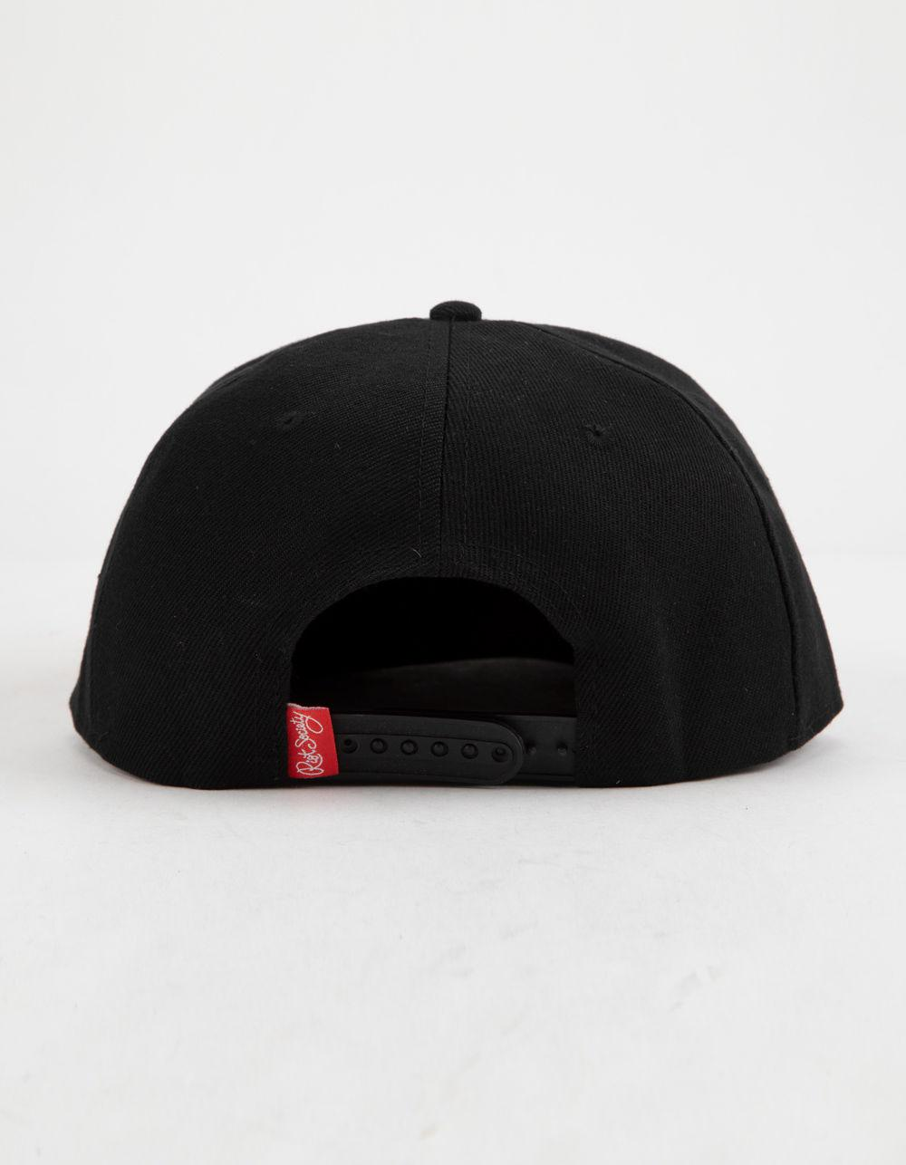 644b466a Riot Society Tiger Rose Black Mens Snapback Hat in Black for Men - Lyst