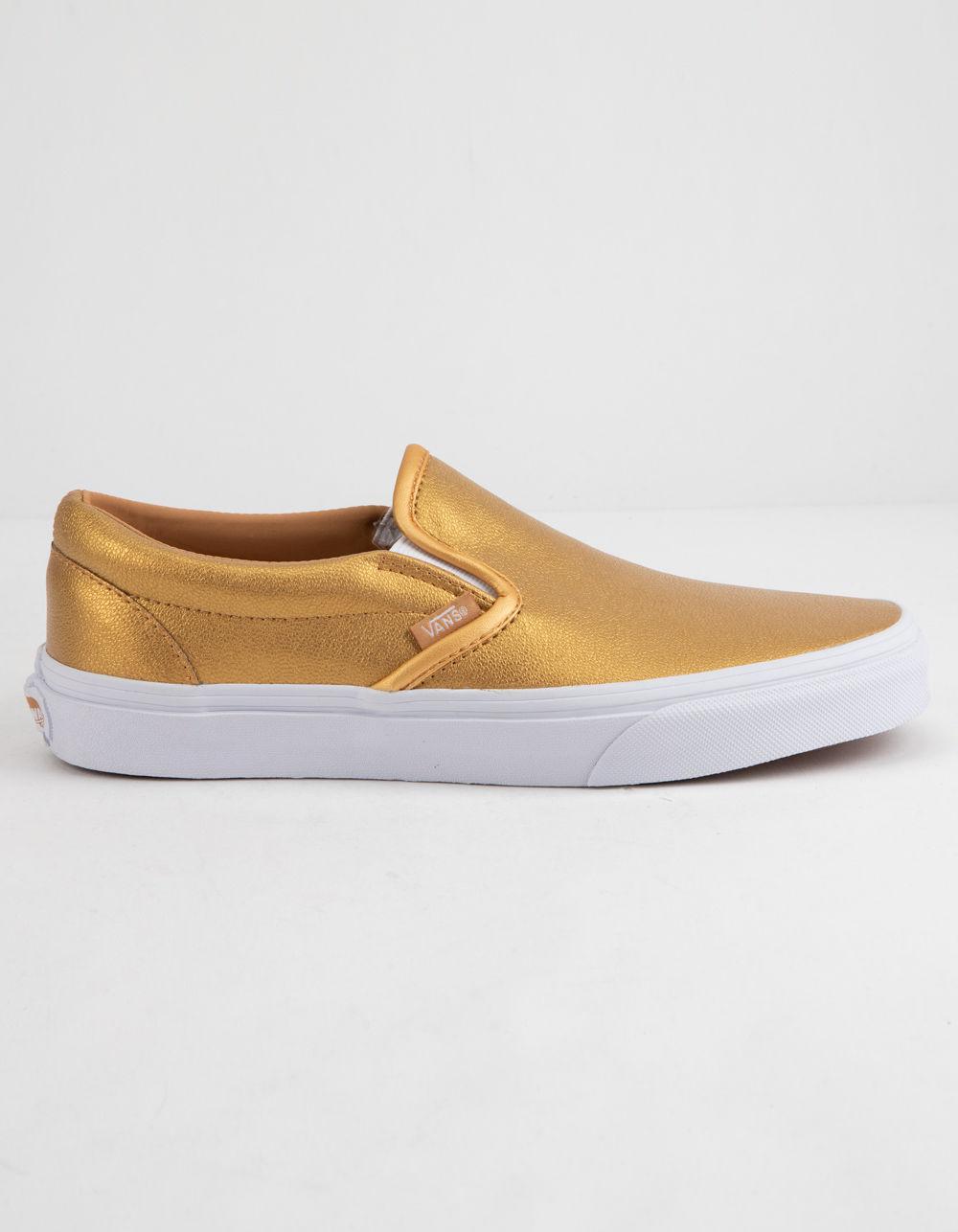 2b9f87d0ac Lyst - Vans Metallic Slip-on Bronze Womens Shoes in Metallic