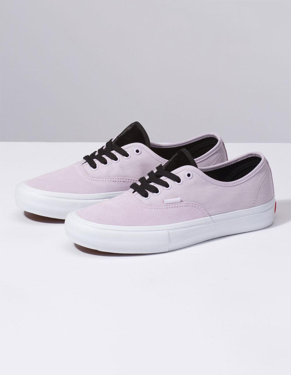 f9601d627aa Lyst - Vans Velvet Authentic Pro Lavendar Shoes