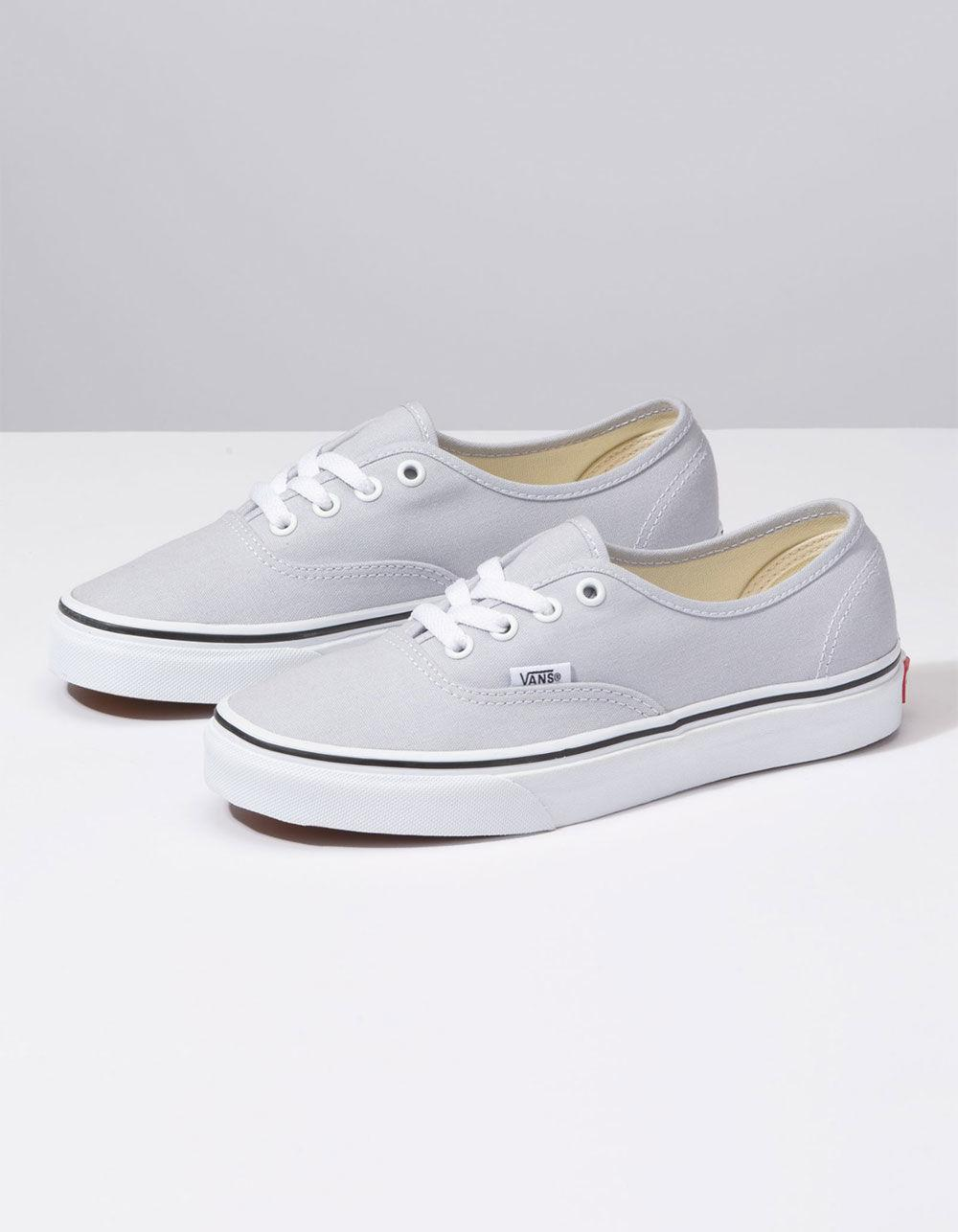 Lyst - Vans Authentic Gray Dawn   True White Womens Shoes in White d38b4fab29
