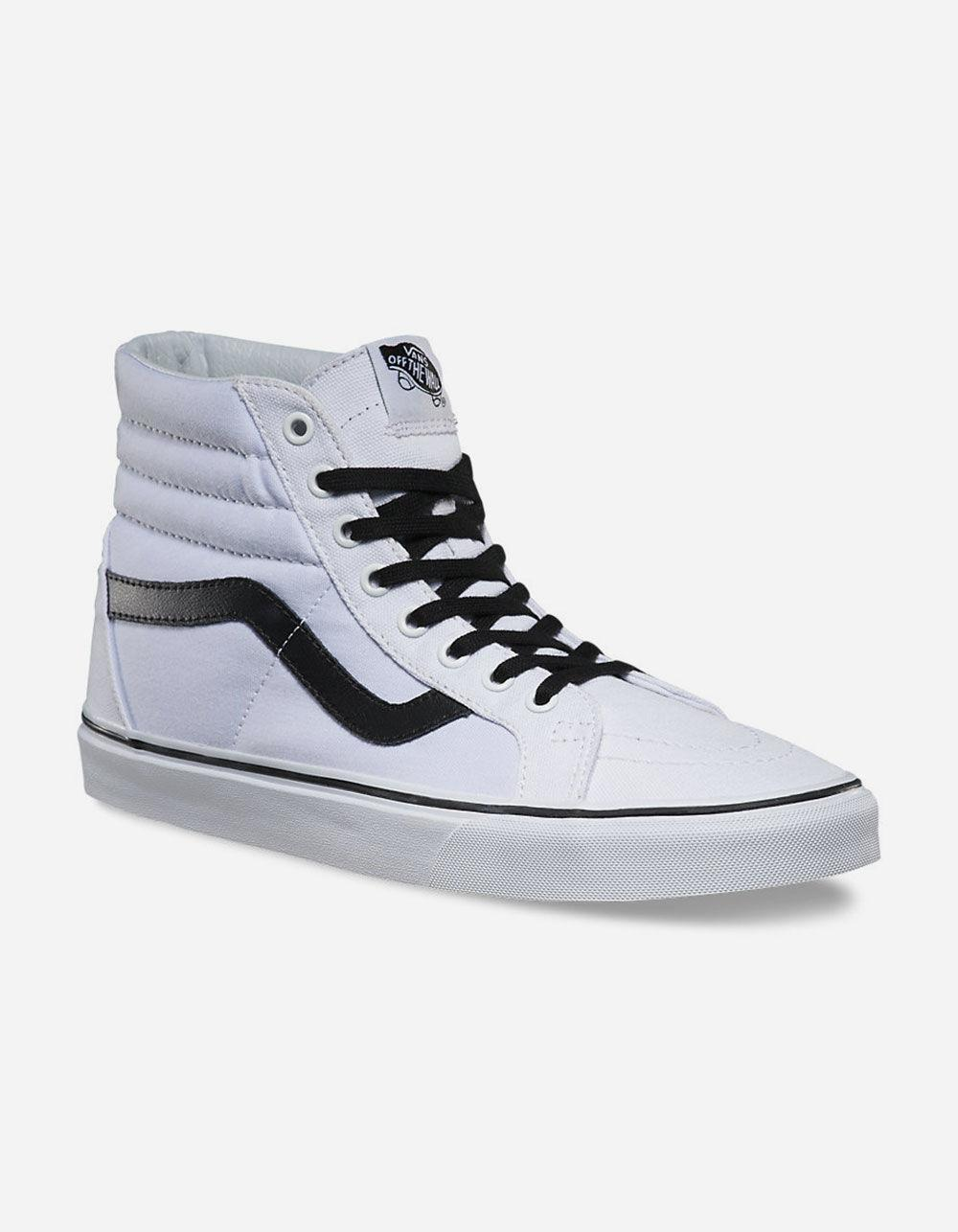 aaa9ea684e3976 Lyst - Vans Sk8-hi Reissue True White   Black Mens Shoes in White ...
