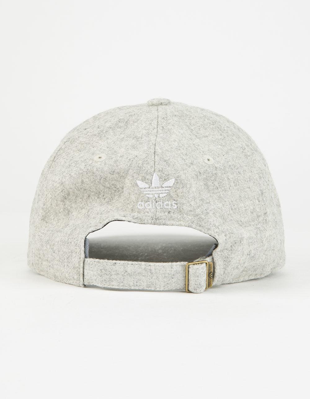 detailed look 13d04 c7075 Adidas Originals White Originals Relaxed Plus Womens Strapback Hat Lyst. View  Fullscreen ...
