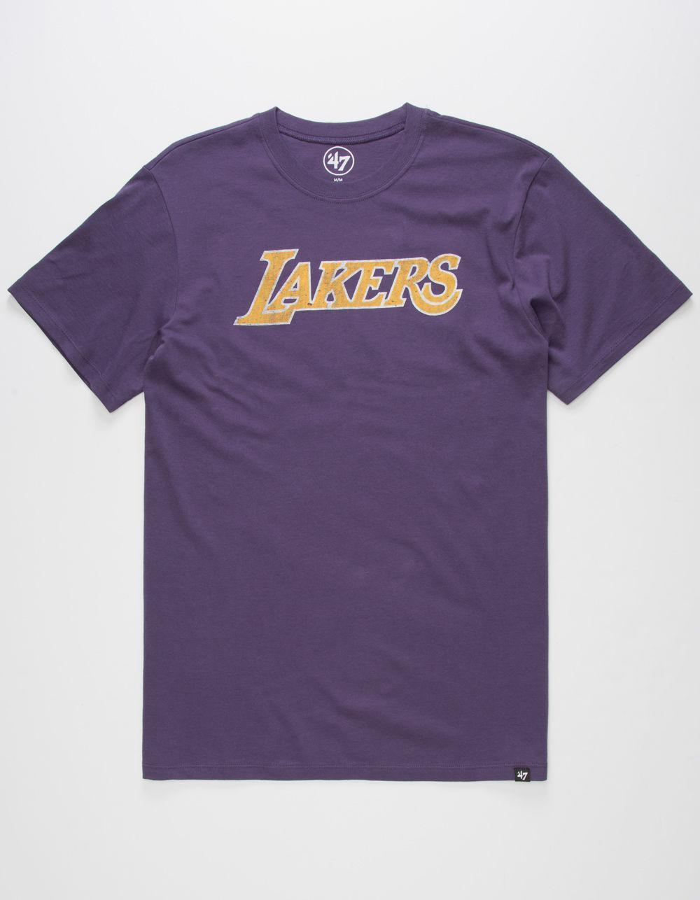 96c31572e30560 47 Brand Los Angeles Lakers Mens T-shirt in Purple for Men - Lyst